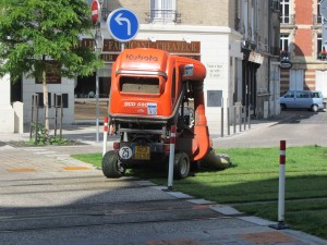 A tramway grasscutting machine