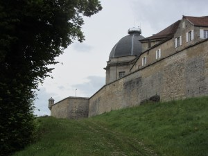 Approaching the town walls