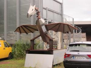 Welding factory statue