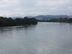 Rhine and rain