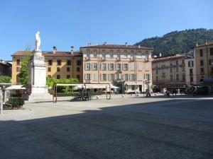 The statue of Alessandro Volta