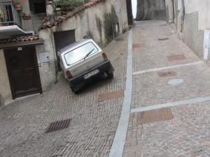 Bondone car parked at an angle
