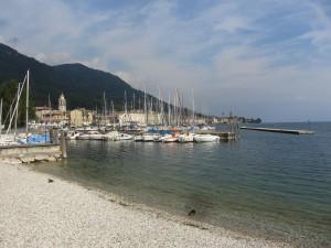 Salo boats on Lake garda