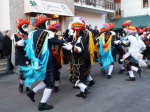 Dancing at Carnevale outside Due Pini